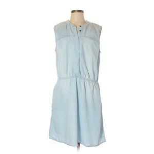 Merona Women's LT Wash Denim Chambray Dress sz XL